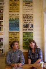 Mac and Jenny Traynham at the Floyd Country Store, 2011. Photo by R. Wells.