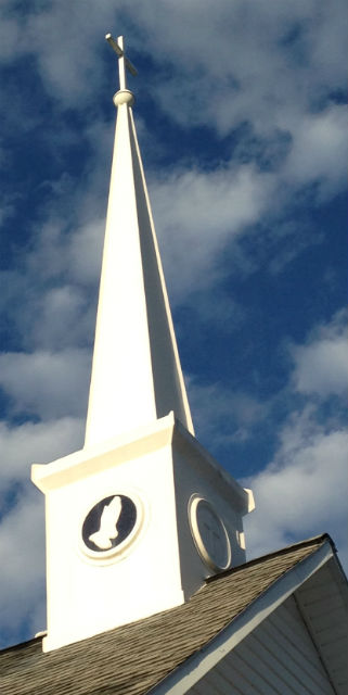 Steeple of Fairview Church of the Brethren, corner of Fairview Church Rd. SW and Cox Store Rd. SW.