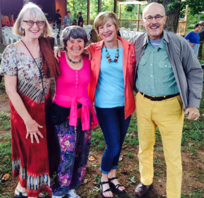 Four jazzy people at White Oak Pavilion. Photo by Fred First.