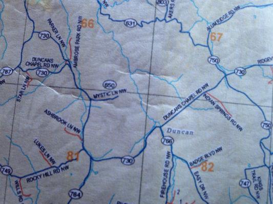 Mystic Lane map