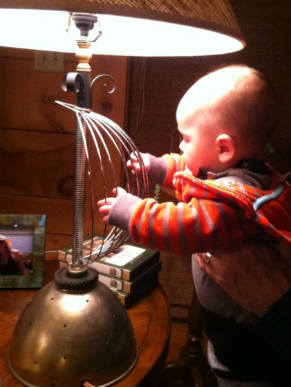 Samuel Hope Wells playing the .... Lamp by Susan Icove.